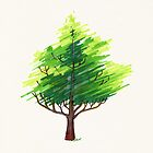 Fantasy Art Deco Tree by Cleave