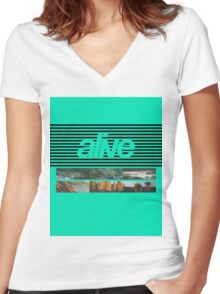 ALIVE tour Women's Fitted V-Neck T-Shirt