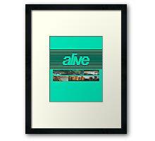 ALIVE tour Framed Print
