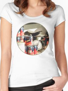 Scale and Canned Goods Women's Fitted Scoop T-Shirt