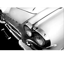 1961 Chevy Corvette - High Key Photographic Print