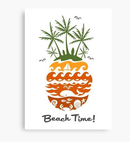 Beach Time - dusk Canvas Print