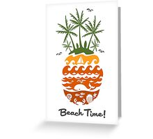 Beach Time - dusk Greeting Card