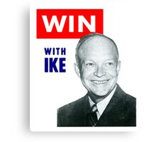 1952 Win with Ike Canvas Print