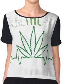 Cannabis T-shirt - Health Care  Chiffon Top