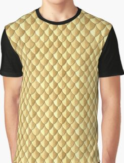 Feather Armor Scales - Gold Graphic T-Shirt