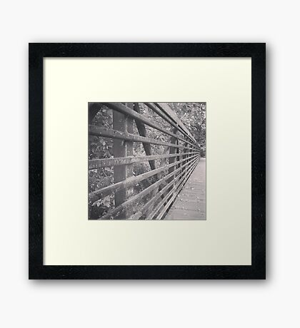 Aged Bridge Framed Print