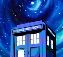 Tardis Vortex Starry Night Sticker