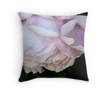 Pink Rose Petal Pillow Throw Pillow