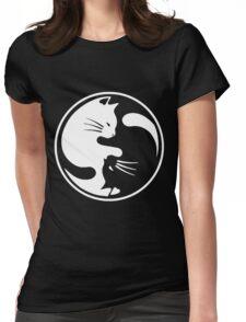 Yin Yang cat  T-shirt 3 Womens Fitted T-Shirt