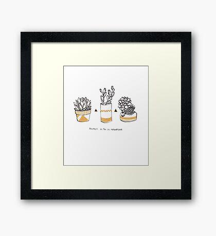 Rude Succulents Framed Print