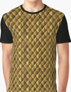 Feather Armor Scales - Old Gold Graphic T-Shirt