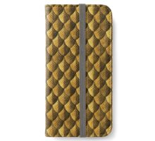 Feather Armor Scales - Old Gold iPhone Wallet/Case/Skin