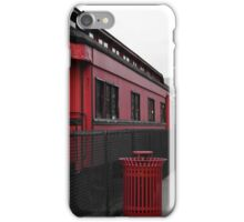 Old Scarlet Train (Red) iPhone Case/Skin