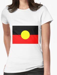 Australian Aboriginal Flag Womens Fitted T-Shirt