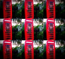 Red Telephone Box by JessBoothArtLab