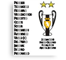 Juventus 1996 Champions League Winners Canvas Print