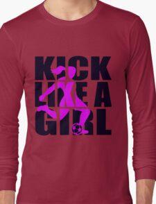 Soccer T-shirt  - Kick like a Girl  T-Shirt