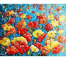 Landscape of Poppy Impressions Photographic Print