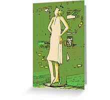 Woman in White Dress #2 Greeting Card