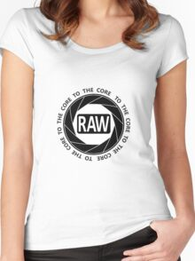 RAW To The Core! Women's Fitted Scoop T-Shirt