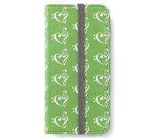 We Heart Music - Green iPhone Wallet/Case/Skin