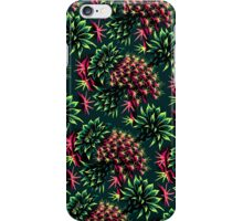 Cactus Floral - Green/Black/Pink iPhone Case/Skin