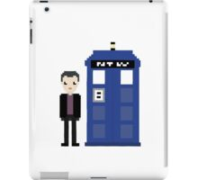 9th doctor and tardis iPad Case/Skin