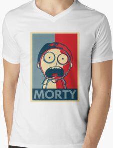 Morty & Rick 3 Mens V-Neck T-Shirt