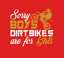 Sorry Boys Dirtbikes Are for Girls Women's Fitted Scoop T-Shirt