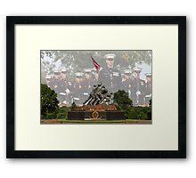 Iwo Jima Memorial - U.S. Marines Framed Print