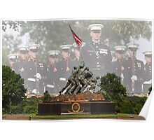 Iwo Jima Memorial - U.S. Marines Poster