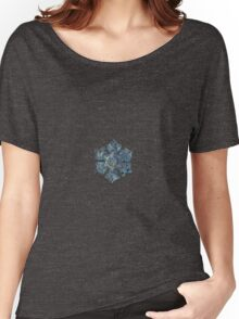 Snowflake photo - Silver foil Women's Relaxed Fit T-Shirt