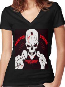 Murder scene Entertainment official tshirt Women's Fitted V-Neck T-Shirt