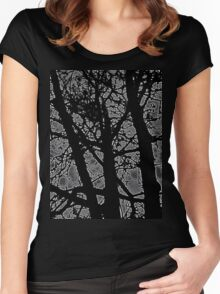 tree in the dark Women's Fitted Scoop T-Shirt