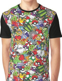 Video Game Mash-Up Graphic T-Shirt