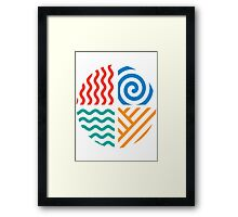 Earth • Air • Water • Fire Framed Print