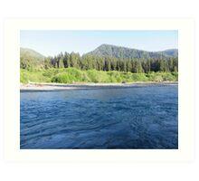 Pacific Northwest River Art Print