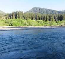 Pacific Northwest River by jkmarshall
