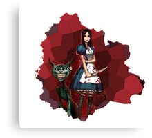 Alice Madness Returns And The Cheshire Cat Canvas Print