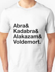 Stylish Pokemon T's   Abra & Kadabra & Alakazam & Voldemort   Black on Light Unisex T-Shirt