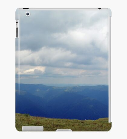 Natural scenery with mountains and cloudy sky. iPad Case/Skin