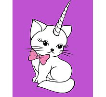 UNICORN CAT Photographic Print