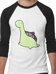 Sheldon The Tiny Dinosaur Who Thinks He's A Turtle Men's Baseball ¾ T-Shirt