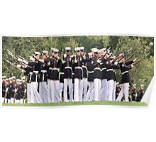 United States Marine Corps Silent Drill Team Poster