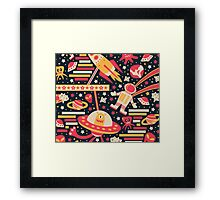 Alien Pattern Framed Print