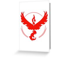 Team Valor Pokemon Go! Greeting Card