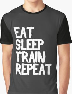 Eat, Sleep, Train, Repeat Graphic T-Shirt