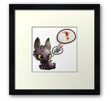 Grow Up Baby Toothless Dragon Framed Print