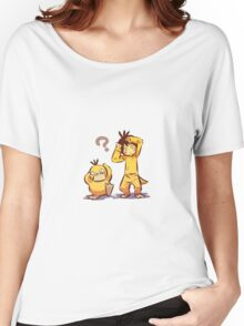 Pocket Monster Fanart Psyduck Cosplay Women's Relaxed Fit T-Shirt